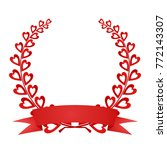 red laurel wreath red composed...   Shutterstock .eps vector #772143307