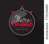 merry christmas calligraphy... | Shutterstock .eps vector #772154683