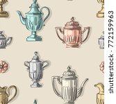 seamless pattern with antique... | Shutterstock .eps vector #772159963