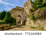 the medieval village lacoste ...   Shutterstock . vector #772163083