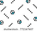pattern memphis style | Shutterstock .eps vector #772167607