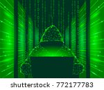 internet security cyber attack... | Shutterstock .eps vector #772177783