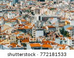 aerial view of lisbon city home ... | Shutterstock . vector #772181533