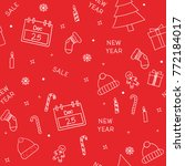 christmas seamless vector... | Shutterstock .eps vector #772184017