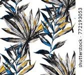 watercolor seamless pattern... | Shutterstock . vector #772193053