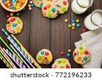 children's cookies with...   Shutterstock . vector #772196233
