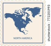 north america map stamp vector | Shutterstock .eps vector #772201993