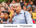 juan rogel  activist for... | Shutterstock . vector #772202443