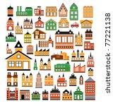 various variants of houses on... | Shutterstock .eps vector #77221138