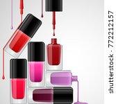 nail polish bright realistic... | Shutterstock .eps vector #772212157