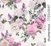 seamless floral pattern with... | Shutterstock .eps vector #772213147