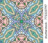 decorative hand drawn seamless... | Shutterstock .eps vector #772223797