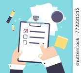 flat modern agenda list...   Shutterstock .eps vector #772231213