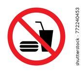 No eating or drinking logo