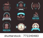 sea marine vector nautical logo ... | Shutterstock .eps vector #772240483