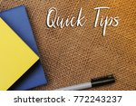 quick tips concept.book... | Shutterstock . vector #772243237