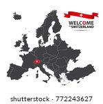 vector illustration of a map of ... | Shutterstock .eps vector #772243627