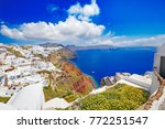 greece  romantic santorini...   Shutterstock . vector #772251547