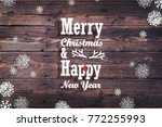 christmas card with a text.... | Shutterstock . vector #772255993