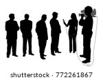 interview with business group... | Shutterstock .eps vector #772261867