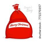 santa claus red bag. big sack... | Shutterstock .eps vector #772270357