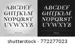 vector elegant alphabet letters ... | Shutterstock .eps vector #772277023