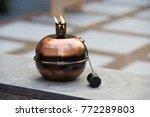 brass kerosine lamp for outdoor ... | Shutterstock . vector #772289803