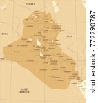 iraq map   vintage high... | Shutterstock .eps vector #772290787