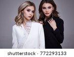 portrait two sexy pretty... | Shutterstock . vector #772293133