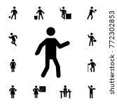 dancing silhouette man icon.... | Shutterstock .eps vector #772302853