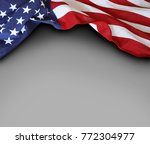 closeup of american flag on... | Shutterstock . vector #772304977