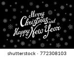 raster copy merry christmas and ... | Shutterstock . vector #772308103