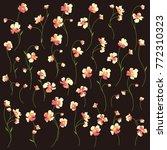 flower vector pattern | Shutterstock .eps vector #772310323