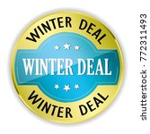 blue winter deal badge with... | Shutterstock .eps vector #772311493