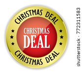 red christmas deal badge with... | Shutterstock .eps vector #772311583