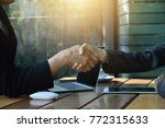 image of business partners... | Shutterstock . vector #772315633
