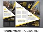 business brochure. flyer design....   Shutterstock .eps vector #772328407