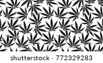 marijuana cannabis leaf weed...   Shutterstock .eps vector #772329283