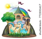 princess and beast by the... | Shutterstock .eps vector #772331617