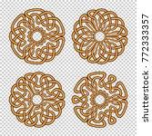 set of four ornamental round...   Shutterstock .eps vector #772333357