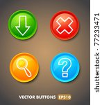 set of download buttons for web | Shutterstock .eps vector #77233471