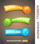 set of download buttons for web | Shutterstock .eps vector #77233474