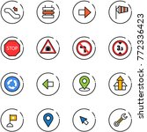 line vector icon set  ... | Shutterstock .eps vector #772336423