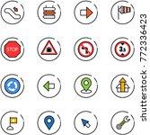 line vector icon set  ...   Shutterstock .eps vector #772336423