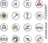 line vector icon set   ski... | Shutterstock .eps vector #772336507