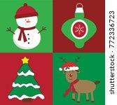 merry christmas items | Shutterstock . vector #772336723