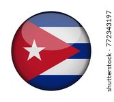 cuba flag in glossy round... | Shutterstock .eps vector #772343197