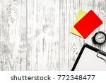 football refereeing. yellow and ... | Shutterstock . vector #772348477