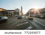 view of the road on the street... | Shutterstock . vector #772355077