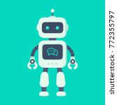 Chatbot Icon Concept. Robot...
